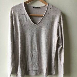 Zara woman sweater with jewel embellishments